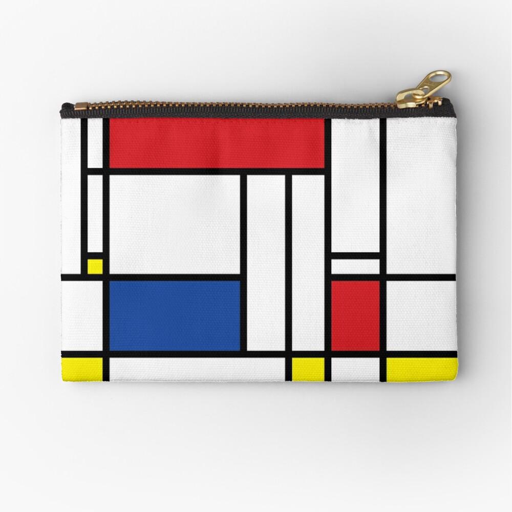 Mondrian Minimalist De Stijl Modern Art © fatfatin Zipper Pouch