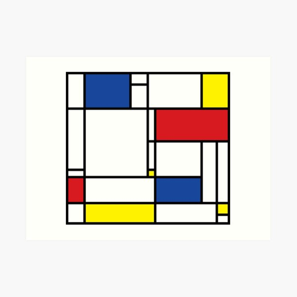 Mondrian Minimalist De Stijl Modern Art © fatfatin Art Print