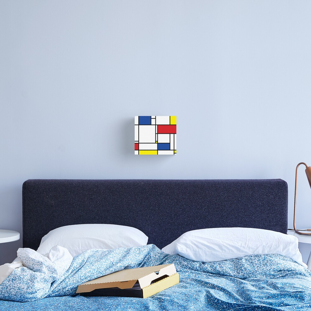 Mondrian Minimalist De Stijl Modern Art © fatfatin Canvas Print