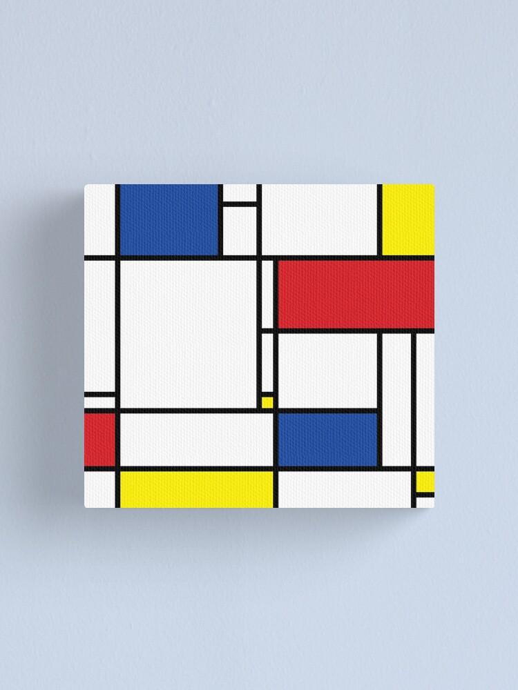 Alternate view of Mondrian Minimalist De Stijl Modern Art © fatfatin Canvas Print