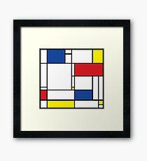 Mondrian Minimalist De Stijl Modern Art Framed Print