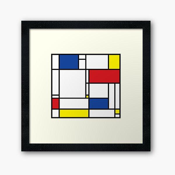 Mondrian Minimalist De Stijl Modern Art © fatfatin Framed Art Print