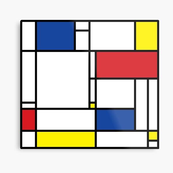 Mondrian Minimalist De Stijl Modern Art © fatfatin Metal Print