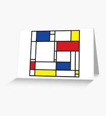 Mondrian Minimalist De Stijl Modern Art Greeting Card