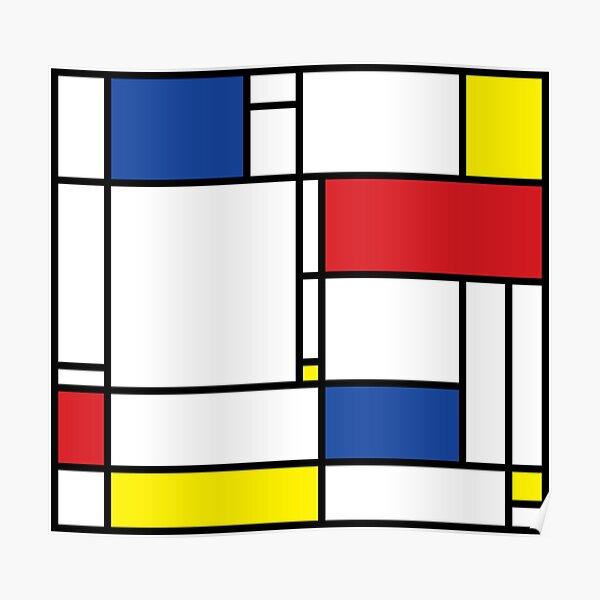 Mondrian Minimalist De Stijl Modern Art © fatfatin Poster