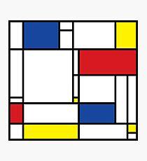 Mondrian Minimalist De Stijl Modern Art Photographic Print