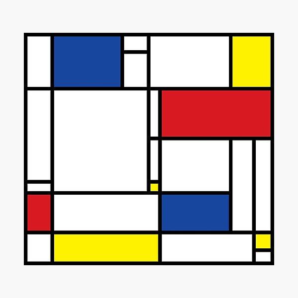 Mondrian Minimalist De Stijl Modern Art © fatfatin Photographic Print