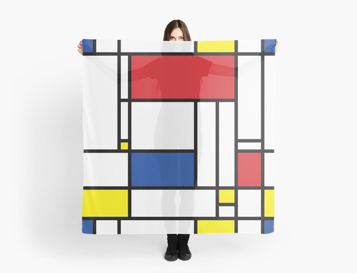 Mondrian Minimalist De Stijl Modern Art by fatfatin