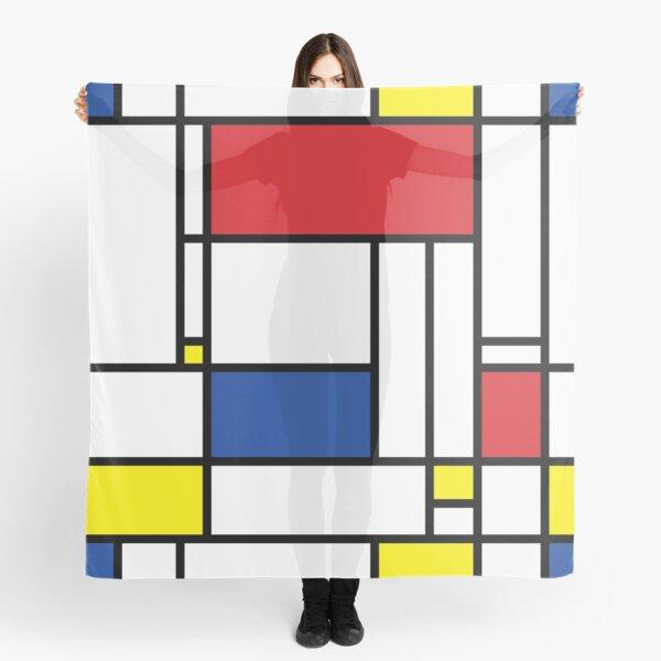 Mondrian Minimalist De Stijl Modern Art © fatfatin Scarf