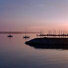 Dusk at the Marina by Joanne  Bradley