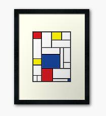 Mondrian Minimalist De Stijl Modern Art II Framed Print