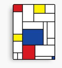 Mondrian Minimalist De Stijl Modern Art II Canvas Print