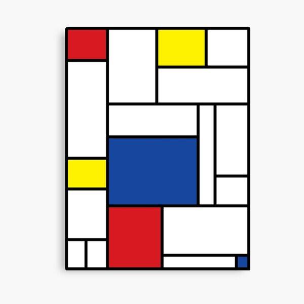 Mondrian Minimalist De Stijl Modern Art II © fatfatin Canvas Print
