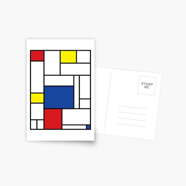 Mondrian Minimalist De Stijl Modern Art II © fatfatin Postcard