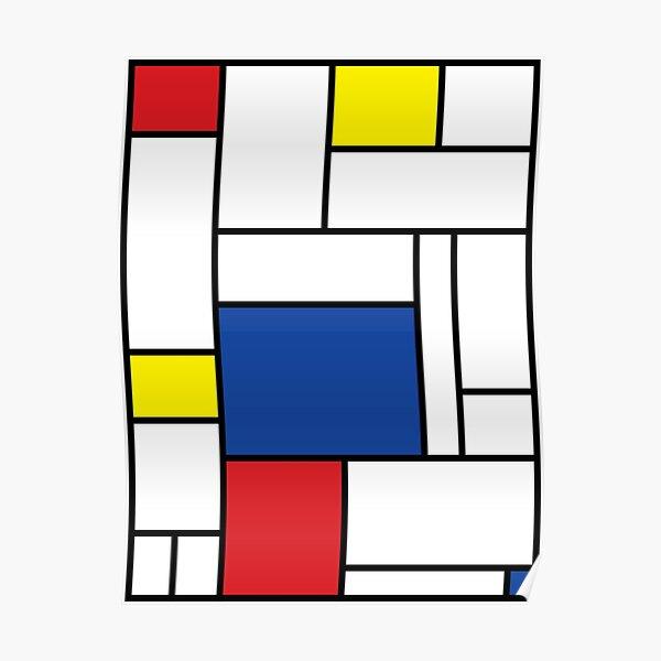 Mondrian Minimalist De Stijl Modern Art II © fatfatin Poster