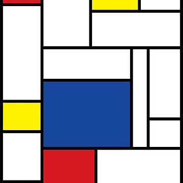 Mondrian Minimalist De Stijl Modern Art II by fatfatin