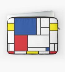 Mondrian Minimalist De Stijl Moderne Kunst II Laptoptasche