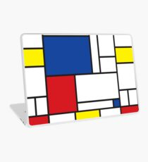 Mondrian Minimalist De Stijl Moderne Kunst II Laptop Folie