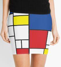 Mondrian Minimalist De Stijl Modern Art II Mini Skirt
