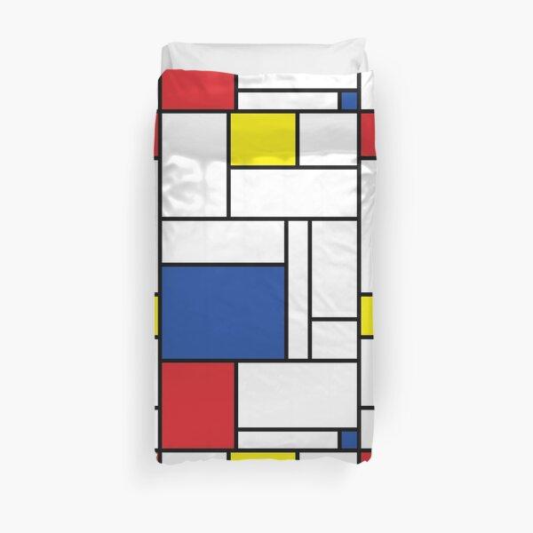 Mondrian Minimalist De Stijl Modern Art II © fatfatin Duvet Cover