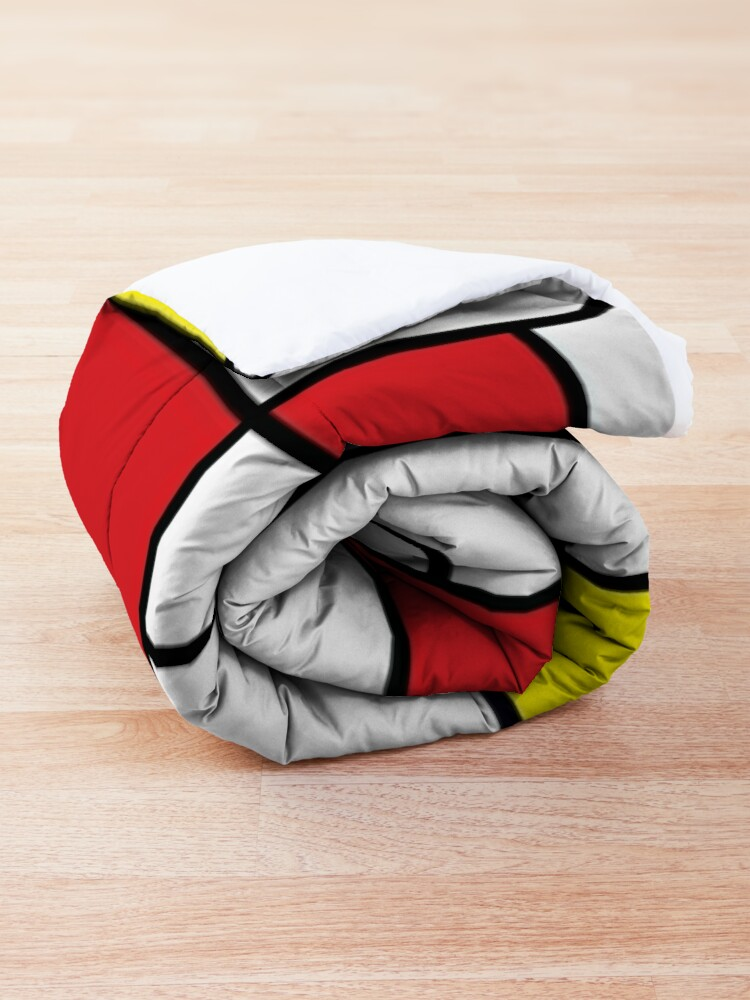 Alternate view of Mondrian Minimalist De Stijl Modern Art II © fatfatin Comforter