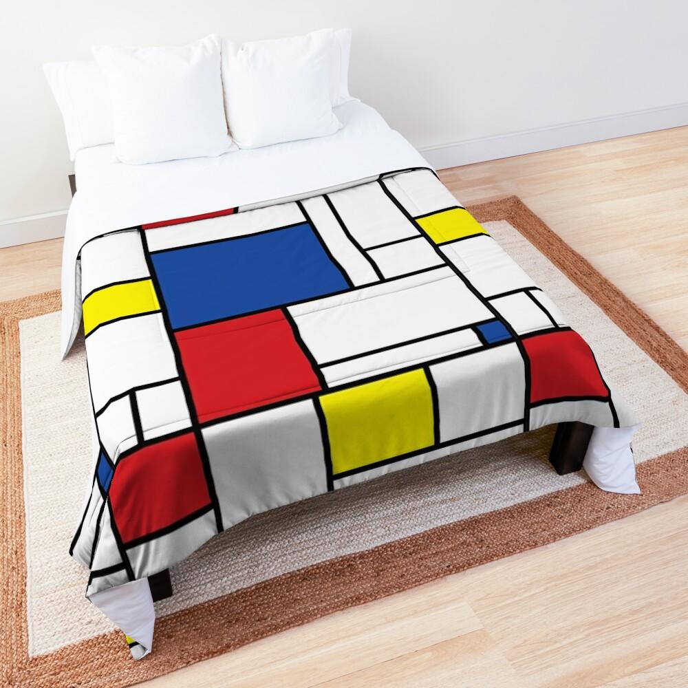 Mondrian Minimalist De Stijl Modern Art II © fatfatin Comforter