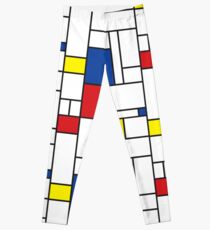 Mondrian Minimalist De Stijl Modern Art II Leggings