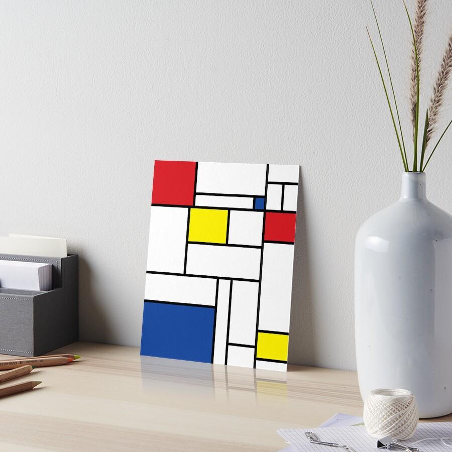 Mondrian Minimalist De Stijl Modern Art II by fatfatin