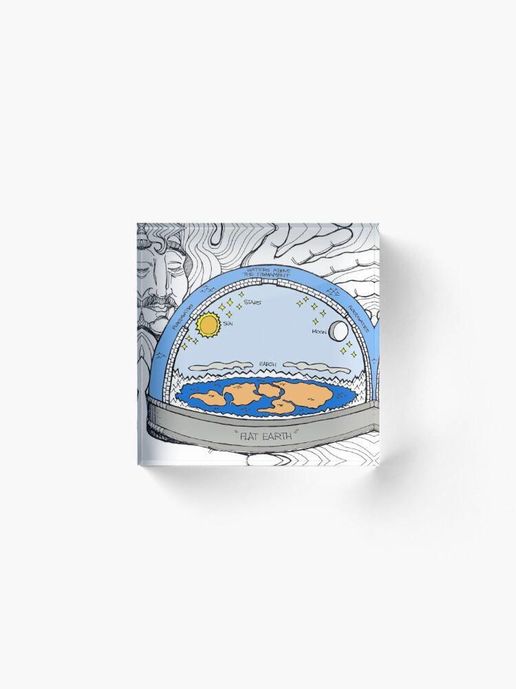 Alternate view of Flat Earth Acrylic Block