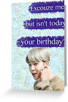 Jimin birthday card greeting cards by baekgie29 redbubble jimin birthday card m4hsunfo
