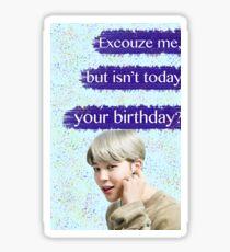 Jimin Birthday Card Sticker