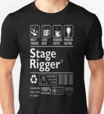 Stage Rigger Multitasking Beer Coffee Problem  T-Shirt  Unisex T-Shirt