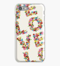 LOVE Spring Flowers in Red iPhone Case/Skin