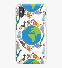 We Love Our Planet   Animals Around The World iPhone Case/Skin