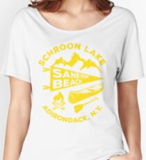 Schroon Lake Adirondacks Mountains New York Women's Relaxed Fit T-Shirt