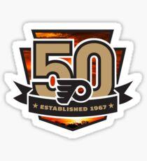Philadelphia Flyers 50th Sunset  Sticker