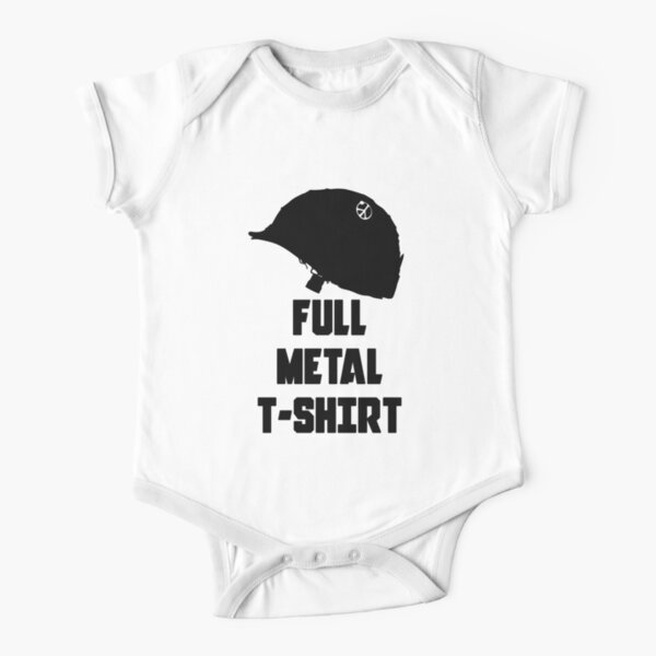 FULL METAL T-SHIRT Short Sleeve Baby One-Piece