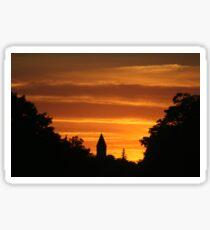 Golden Evening Silhouettes Sticker