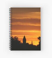 Golden Evening Silhouettes Spiral Notebook