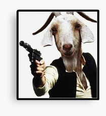 Mr Sunday / Goat Han Solo Canvas Print