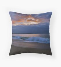 Enchanted Evening On The Beach, Algarobo, Chile Throw Pillow
