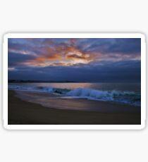 Enchanted Evening On The Beach, Algarobo, Chile Sticker