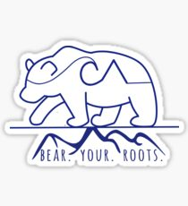 Bear Your Roots- WHITE Sticker