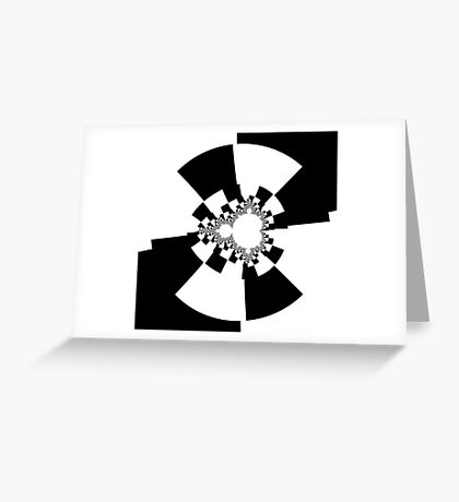 Untitled XXV - Black Greeting Card