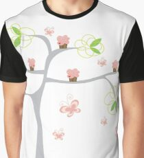 Whimsical Pink Cupcakes Tree II Graphic T-Shirt