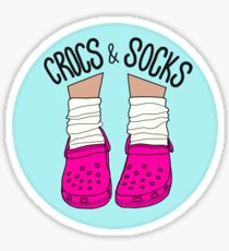 Crocs and Socks Sticker