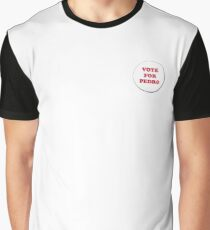 Vote for Pedro - Badge Graphic T-Shirt
