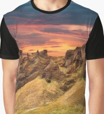 Iceland Sunset Fantasy - Monster Mountain Graphic T-Shirt