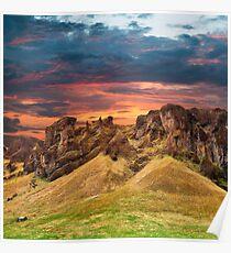 Iceland Sunset Fantasy - Monster Mountain Poster