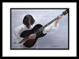 acrylic painting jackson browne music by mshelley